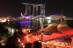 Travel sinapore. Top view marina stock photo
