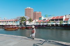 Travel in Singapore at Clarke Quay. stock image