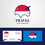Travel Singapore Flag Logo and Visiting Card Design. This Vector EPS 10 illustration is best for print media, web design, application design user interface stock illustration