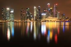 Travel singapore. Marina bay lighting royalty free stock image