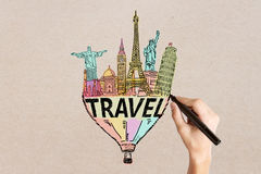 Travel sketch Royalty Free Stock Photography