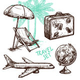 Travel Sketch Decorative Icon Set Royalty Free Stock Photo