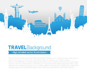 Travel Skyline Page Template Stock Photography