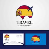 Travel Spain Flag Logo and Visiting Card Design. This Vector EPS 10 illustration is best for print media, web design, application design user interface and vector illustration