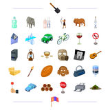 Travel, sport, history and other web icon in cartoon style.wine, animal, transport icons in set collection. Stock Images