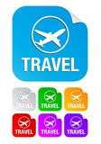 Travel,square stickers Royalty Free Stock Images