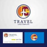 Travel Sri Lanka Creative Circle flag Logo and Business card des. Ign - This Vector EPS 10 illustration is best for print media, web design, application design stock illustration