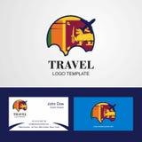 Travel Sri Lanka Flag Logo and Visiting Card Design. This Vector EPS 10 illustration is best for print media, web design, application design user interface stock illustration
