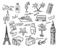Travel stack sketch Royalty Free Stock Photos