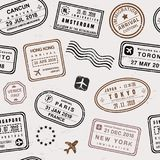 Travel stamp background Royalty Free Stock Images