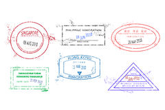 Travel stamps Royalty Free Stock Photos