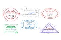 Travel stamps royalty free illustration