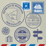 Travel stamps set vector illustration