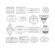 Travel Stamps Set. Vector Royalty Free Stock Photography