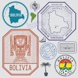 Travel stamps or symbols set Bolivia, South America theme Stock Photo