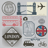 Travel stamps or symbols set, England and London theme Stock Photos