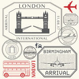 Travel stamps or symbols set England London and United Kingdom Royalty Free Stock Photo