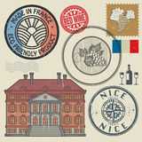 Travel stamps or symbols set, France theme Royalty Free Stock Images