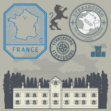 Travel stamps or symbols set, France theme. Vector illustration Stock Image