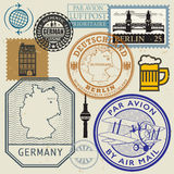 Travel stamps or symbols set, Germany theme Stock Photo