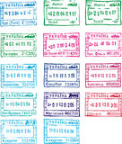 Travel stamps of ukraine. Ukrainian travel stamps.Illustration was made in Corel Draw X4 stock illustration