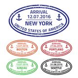 Travel stamps USA Stock Photography