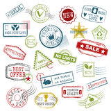 Travel stamps vector. royalty free illustration