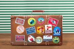 Travel. Sticker bag old label world case royalty free stock photo