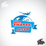 Travel sticker Royalty Free Stock Image