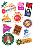 Travel sticker Stock Photography