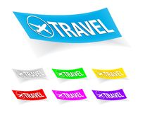 Travel, stickers Stock Photography