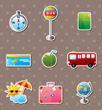 Travel stickers Royalty Free Stock Photography