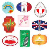 Travel Stickers Design Collection Royalty Free Stock Photo