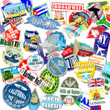 Travel stickers Royalty Free Stock Image