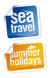 Travel stickers set Stock Photo