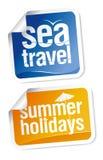 Travel stickers set Stock Photo