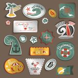 Travel stickers set Stock Images