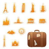 Travel Stickers Stock Photos