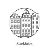 Travel Stockholm Icon Stock Images