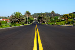 Travel the Straight Line. A straight road in Los Angeles California Stock Images