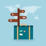 Travel suit case concept illustration. Vector travel suit case concept illustration Royalty Free Stock Photo