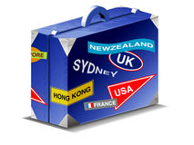 Travel suitcase Royalty Free Stock Photos