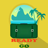 Travel suitcase stock illustration