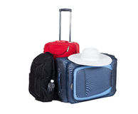 Travel suitcase (bags) isolated on white background. Royalty Free Stock Images