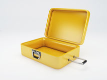 Travel suitcase. beach vacation.  white Royalty Free Stock Photography