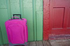 Travel Suitcase. A colorful travel suitcase ready for a vacation Royalty Free Stock Images