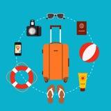 Travel suitcase concept Foto de archivo libre de regalías