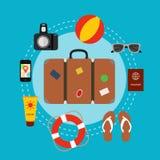 Travel suitcase concept Imágenes de archivo libres de regalías