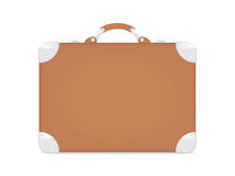 Travel suitcase. 2d illustration. Brown leather travel suitcase Stock Photos