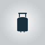 Travel suitcase. Flat web icon, sign or button isolated on grey background. Collection modern trend concept design style vector illustration symbol Stock Image